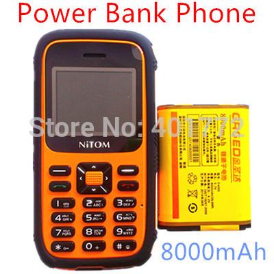 NEW 8000mAh Big Battery Original K28 Power Bank Phone Shockproof Dustproof Loud Soud DualSim Card Long Standby Russian Keyboard(China (Mainland))