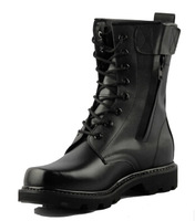 Free shipping PU leather good quality military boots outdoor combat army boots male lace up easy to zip men winter shoes size 45