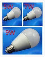 100% quality High brightness high power  Light Bulb 5W/ 7W/ 9W/ with CREE  LED Bulb Lamp E27110-240V Cool/Warm White