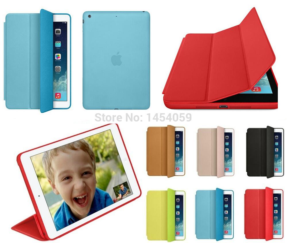 Original official Cover For Ipad Mini 1 2 3 cases Leather Smart Case capa fundas For Apple Ipad Mini case Retina cover With LOGO(China (Mainland))