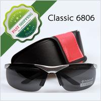 Wholesale Brand Designer Aluminum Magnesium Alloy Polarized Sunglasses For Men Bike Sport Driving soleil  6806 with case