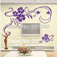 2014 New Design Hot Selling/Big  Flowers/Vinyl Wall Decals :93*150cm/Waterpoof Wall Sticker #309
