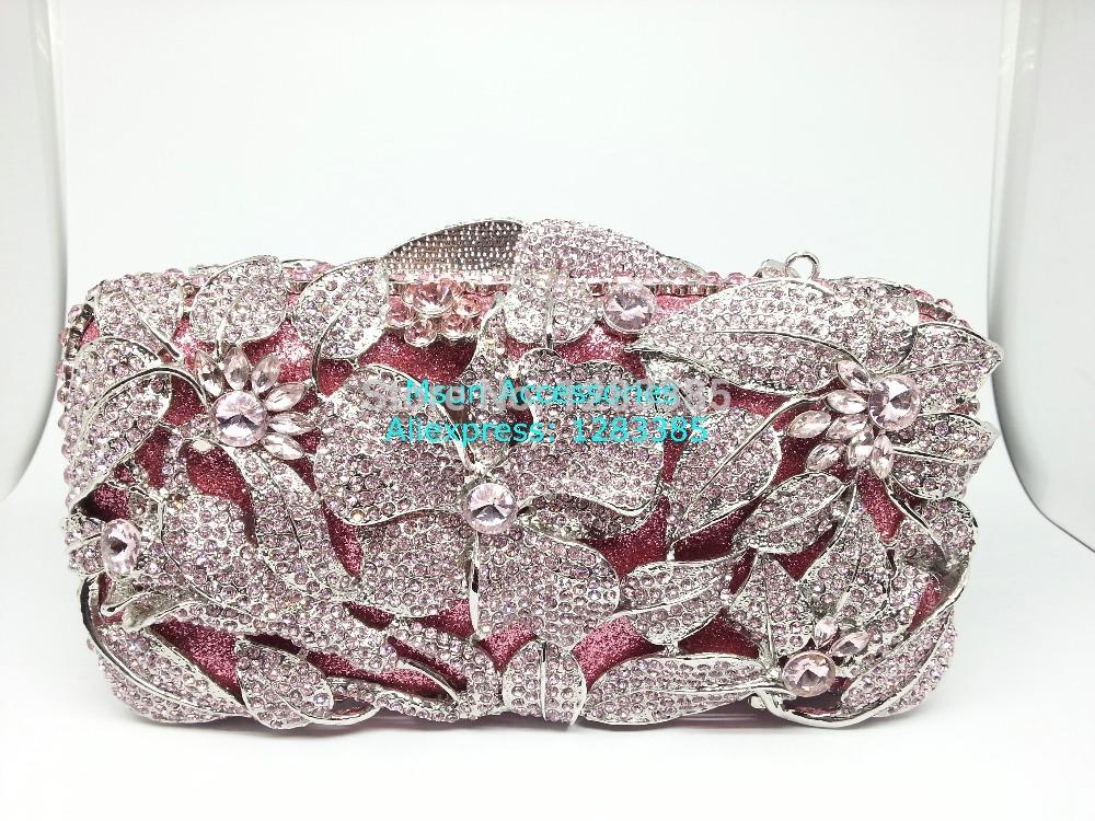 2colors Hollow Out Crystal Party Wedding Clutches Women Evening Bags Diamond Handbags Purse Bridal Clutch Bag Handbag Bolsas(China (Mainland))