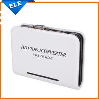 1080P Audio VGA To HDMI converter Box HD HDTV Video Adapter For PC Laptop DVD