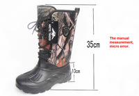 High-quality 1 pair men boots men camo hunting boots Winter boots   waterproof Non slip soles fishing boots hiking boots