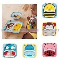 Kid Cartoon pattern Dinnerware Set  Child kid Plate Bowl and Cute Baby  bibs with cute animal Waterpfoof bibs Free shipping