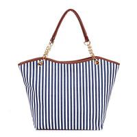 2014 Korean version of the new chain handbags striped canvas shoulder bag big bag export trade free shipping