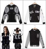 2014 Winter KTZ hoodies letters PYREX print Men HBA streetwear Bandana sweatshirt pullover cartoon sportwear casual jacket coats