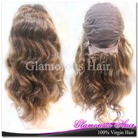 Free Shipping Guangzhou Hair Products Peruvian Body Wave Half Lace Human Hair Wigs For Black Women