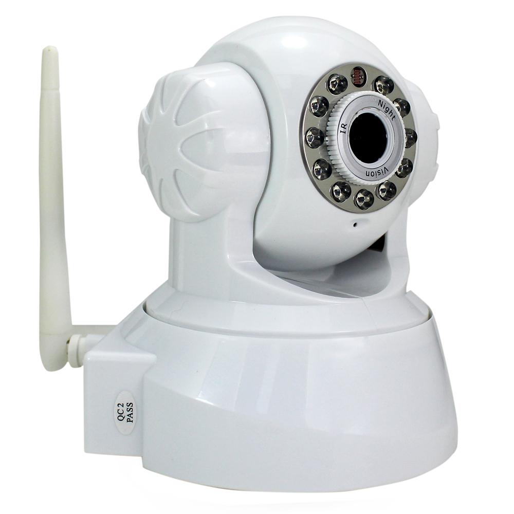 Hot Surveillance Equipment White Night Vision IR Webcam Web CCTV Camera WiFi Wireless IP Camera Pan Tilt Security. Free Shipping(China (Mainland))
