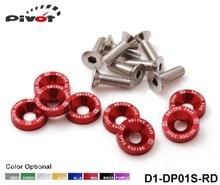 pivot- d1 spec 8 stück m6 x 20 scheinwerfer stoßstangen Kotflügel Unterlegscheiben kit schraube schraube motor rot fit für honda d1-dp01s-rd(China (Mainland))