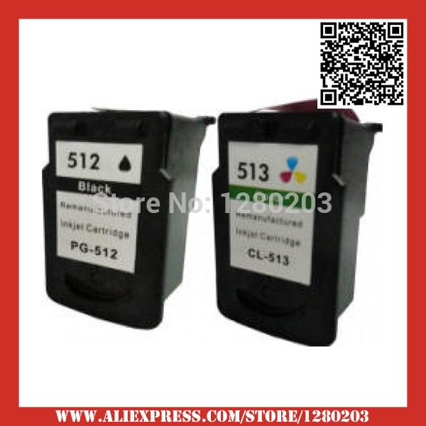 2 Шт. Черный и Цветной Чернильный Картридж для Canon PG 512 513 для Canon MP230 MP480 MX350 IP2700 Fax-JX510P cl513 картридж sharp mx b20gt1 для mx b200 201 черный