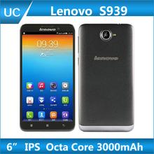 "Original Lenovo S939 Octa Core Mobile Phone MTK6592 6"" IPS 1GB RAM 8GB ROM 8MP Android 4.2 GPS Dual SIM Russian Multi Language"