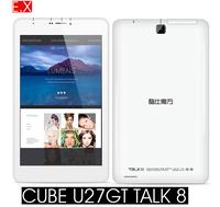 "cube u27gt talk 8 Original 3G Tablet PC 8"" IPS 1280x800p MTK8382 Quad Core Android 4.4 WCDMA Phone Call GPS Dual Cameras"