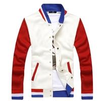 Colorful Stirpe Style Man Koean Design Baseball Jacket Size M-2XL Fashion Patchwork Men Autumn Slim Coats Casual Sweatershirts