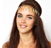 Bohemian Angel Wings Haiband Gold Hair Chain Fashion Gold Hair Jewelry Statement Hair Accessory Brand Headband BJH907078