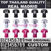 Real Madrid 2015 Soccer Jerseys Away Home Camiseta James 14 15 Training Pink Shirt Jacket Football Champions League Uniforms