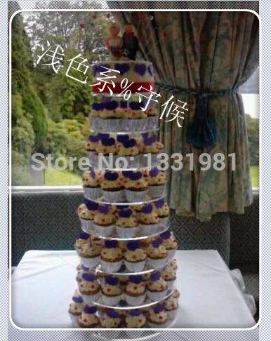 / 8 Tier round free shiping Beautiful Acrylic Cupcake Stand Party / Wedding / Festival Supplieswedding cake stand(China (Mainland))