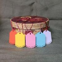 250pcs 4.5*7cm wedding tags Blank colorful DIY Gift packing decoration Hang tags(no rope) scrapbook cards making baking labels