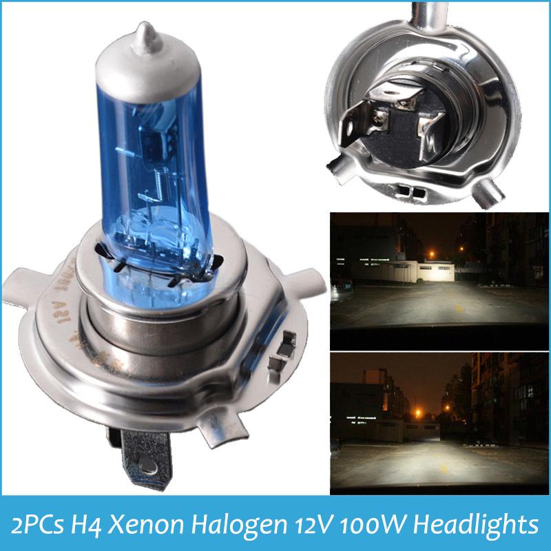 H4 XENON HALOGEN BULB 12V 100W Headlights Super White 9003 H4 6000K Xenon Car HeadLight Bulb Halogen Light Freeshipping(China (Mainland))