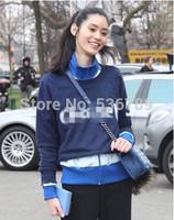 2014 Autumn Fashion Women Sweatshirt Loose Casual Letter Printed Sweatshirt Female Long Sleeve O Neck Tops High Street Pullovers