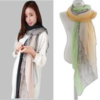 Korea Style New Lace Scarf Women Paris Yarn Large Shawl Fashion Brand Scarves