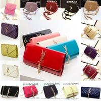 Leather women  messenger  shoulder evening bag YS famous brand metal chain handbag purse day clutch women's  bolsas desigual