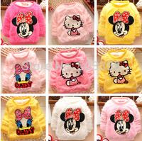 2014 Fashion Minnie Cartoon Pullovers Children Fluffy Cute Sweater Children Sweater