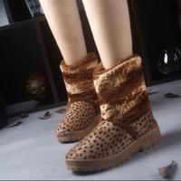 Hot sale women Sexy Leopard ankle boots winter warm snow boots women's winter warm shoes 2015 new fashion