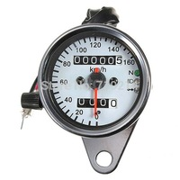 New Universal Motorcycle Dual Odometer Speedometer Gauge Test Miles Speed meter