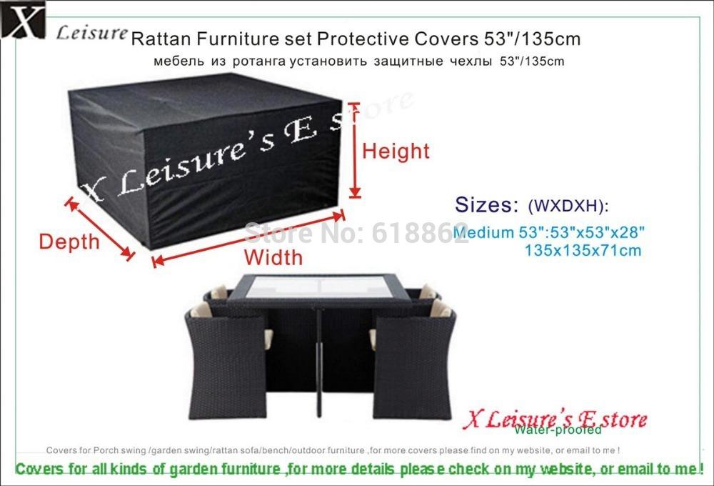 """Medium size Rattan furniture set Protective cover 53"""",garden furniture cover,water-proofed cover for outdoor furniture(China (Mainland))"""