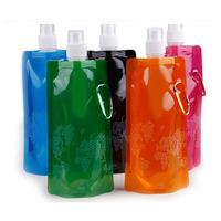 5pcs 480ml foldable water bottle sports water bottle portable travle bottles outdoor drink bottle cups and mugs water bag