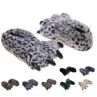 Big Animal PAWS Slipper Winter Warmer Slipper Indoor Shoes Home Slipper Cotton Slipper