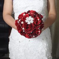 Wedding bouquet diamond bride lucky hand flower photography props bridesmaid flower free shipping handmade simulation flowers