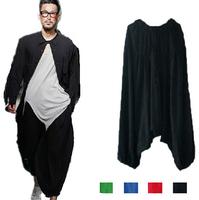 2014 New men's cross pants,plus size S-XL sport pants, dancing yoga trousers,Harem wide leg Pants,bloomers casual trousers