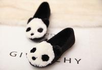 2014 Winter girl fur cotton shoes,children girls panda single shoes flat shoes family shoes
