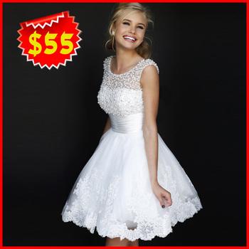 Новый 2015 белый короткое свадебное платья невесты сексуальные кружева свадебное платье Большой размер свадьбы слоновая кость 2014 vestido де noiva