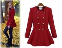 New Sale Autumn Winter Woolen outerwear overcoat women 2014 women's long wool winter coats thick warm wool coats 21