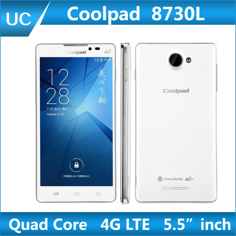 2014 new Coolpad 8730L 4G LTE phone Quad Core Qualcomm Snapdragon 1G RAM 8G ROM 5.5 Inch IPS 1280x720p GPS 3G WCDMA Smart Phone(China (Mainland))