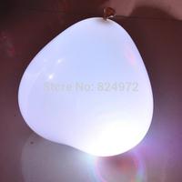 12 inch white heart shape led balloon with white led light  free shipping
