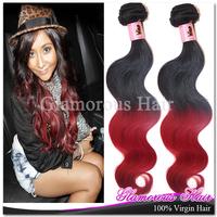 Free Shipping Wholesale Brazilian Hair Weave Bundles 2pcs A Lot Body Wave Colored Brazilian Hair Weave