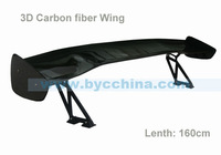 XL WING-3D VB !! UNIVERSAL CARBON FIBER  REAR SPOILER WING, RACING SPOILER, WITH STANDS-Car Styling