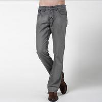 fashion high fashion designer brands 2014 new denim supply cotton jeans men Winter men's jeans high quality Gray jean 38