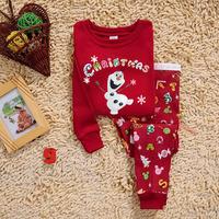 New Arrival Frozen Girls Pajamas Sets  baby pajamas for Christmas children set pajamas kids pajamas 2-6years
