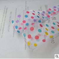 Wholesale 200yard/Lot 16mm colored dots snow yarn ribbon headdress material DIY craft hair band