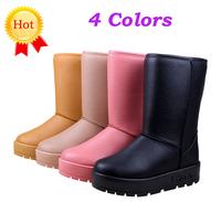 Fashion women winter boots ladies shoes autumn winter snow boots women winter waterproof PU leather boot 2014 new hot sale