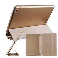 "New 2015 Smart Cover For iPad Air 9.7"" Slim With Flip Stand For iPad 5 Leather Case Black Champagne Gold Drop Ship"