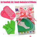 Superdealer-- 2pairs/LOT( (1pair glove+1pair socks) Whiten Skin Moisturizing Treatment Gel SPA gloves and socks)Free Shipping