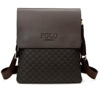 Fashion New Quality PU Leather Men's Messenger Bag Classic Checkered Pattern Man Business Handbag Cross Body Shoulder Bags VP-3