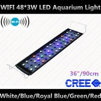 """WIFI 36"""" 48*3W aquarium led lighting aquarium light aquarios LED+CREE+90 degree White,Blue,Royal Blue,Green,Red"""